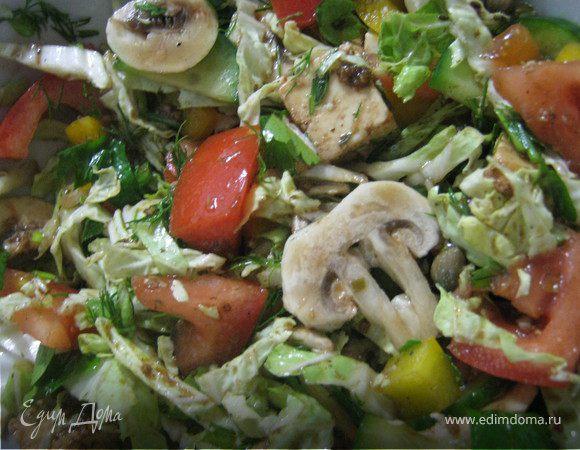 Салат из овощей и маринованной брынзы!