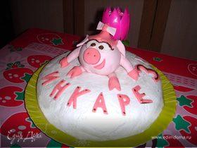"""Торт """"Нюша"""" для моей доченьки"""
