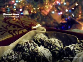 Мятно-кокосовые шоколадные конфеты с вяленой вишней