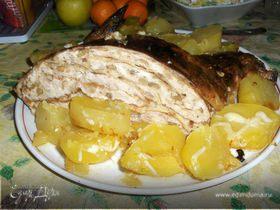Курица, фаршированная блинами от Ирины Браим