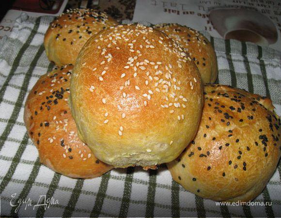 Хлебные булочки на картофельном пюре.