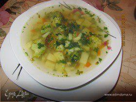 Суп и3 брокколи