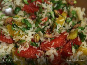 Цитрусовый салат с рисом