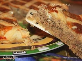 Пирог с куриной печенью