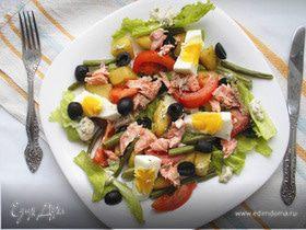 Салат «Нисуаз» с лососем от Гордона Рамзи