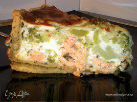 Пирог с сёмгой и брокколи
