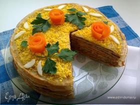 Блинно-печеночный торт