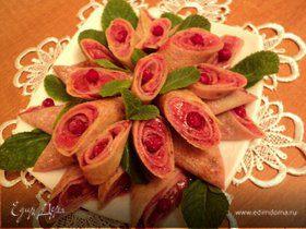 Блинчики с ягодным суфле.