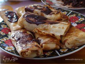 Налистники с бананом и шоколадом