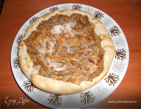 Пирог из макарон
