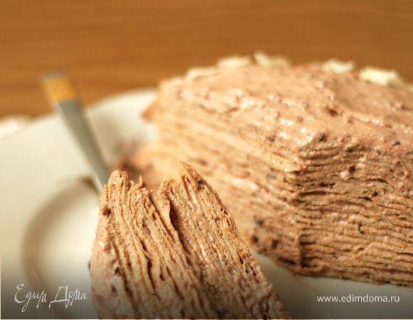 Блинный торт творожным кремом рецепт пошагово