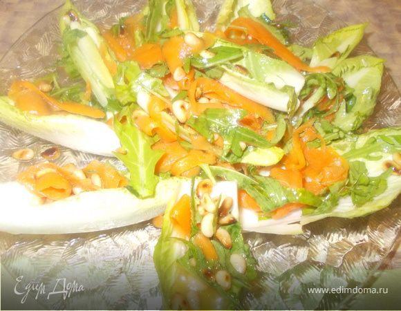Морковный салат с цикорием