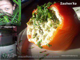 Перец с овощами и сметаной на пару