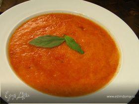 Суп из запеченных перцев с апельсиновым соком и тмином