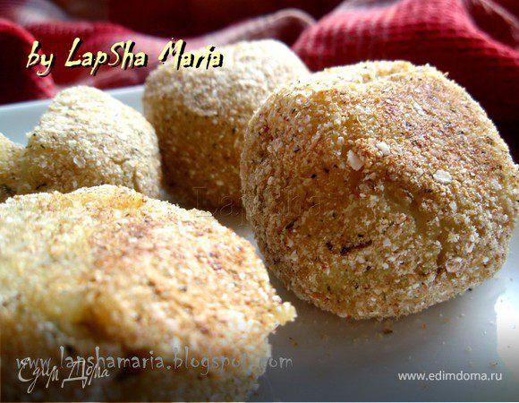 Картофельные крокеты с грибной начинкой (постные)