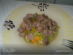 Рагу из молодых овощей и говядины