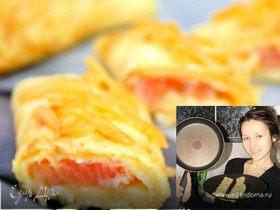 Французский омлет с семгой