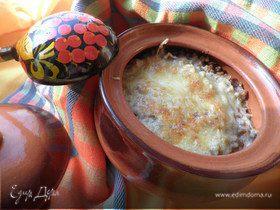 Каша гречневая, запечённая с грибами