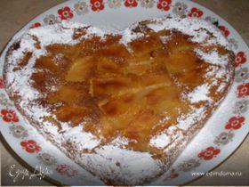 Пирог-запеканка из батона с яблоками