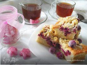Вишневый пирог со штрейзелем