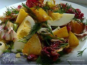 Салат с карамелизированной грушей