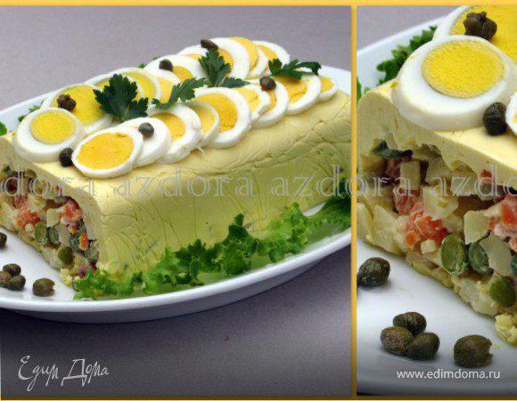 Салат из курицы типа оливье