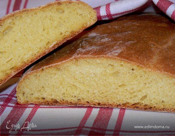 Хлеб с кукурузной мукой и горчичным маслом