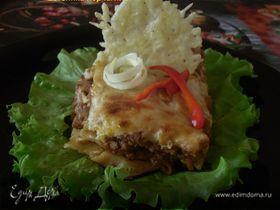 Лазанья аль форно с сырными чипсами