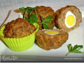 Маффины мясные с перепелиными яйцами