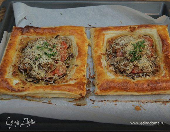 Тарты с грибами и тимьяном
