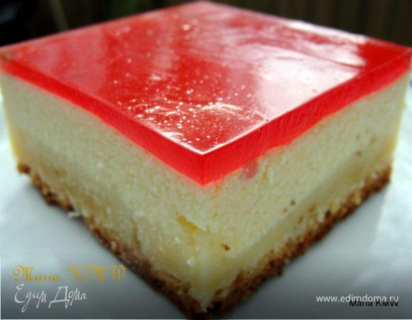 """Творожный пирог """" Три слоя"""" или кезекухен"""