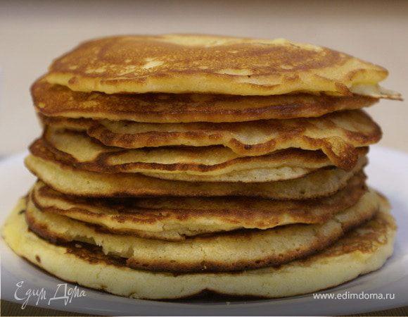 Американские блины с кукурузной мукой / American pancakes with corn flour
