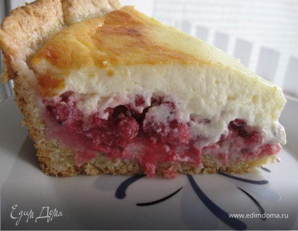 Новошотландский пирог из голубики со сливочным кремом