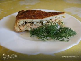 Рыбный слоеный пирог