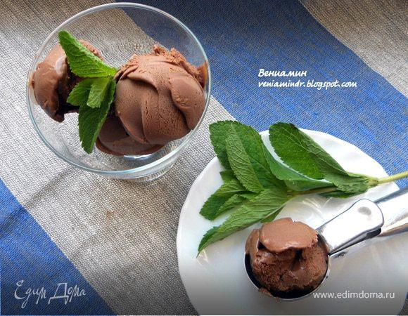 Шоколадно-мятное мороженое