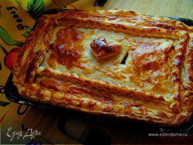 Вкусный пирог с капустой и арахисом