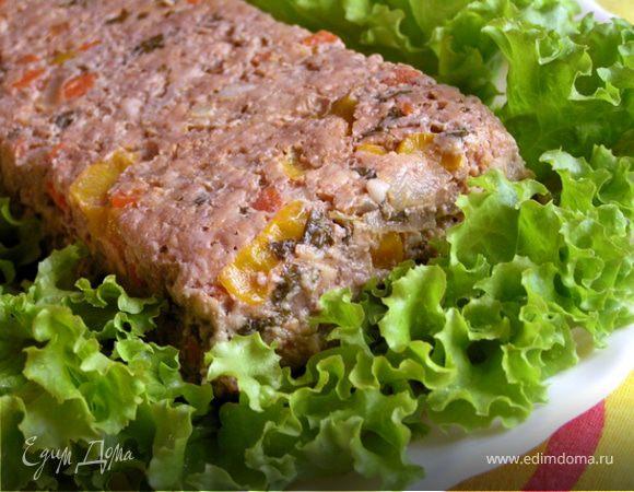 Мясной террин с овощами и каперсами