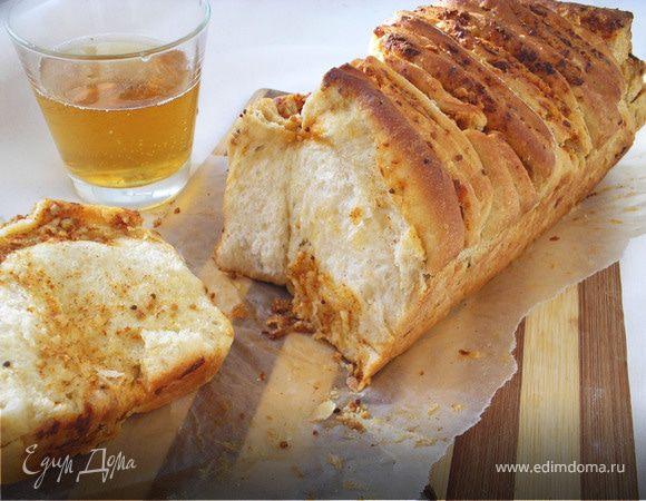Хлебная гармошка на пиве с горчицей и сыром