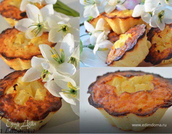 Рисовые мини-тортики с ананасом