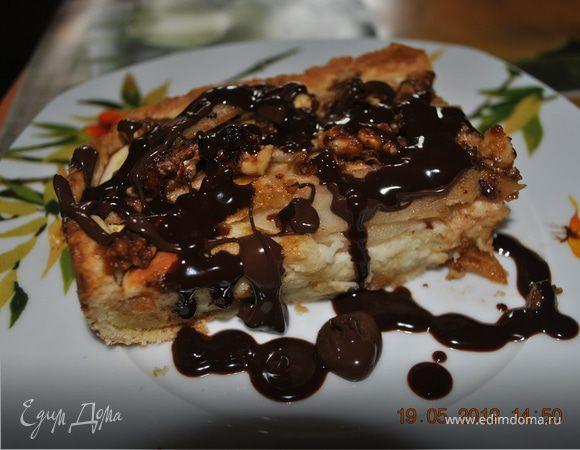 Творожно-грушевый тарт с крокантом