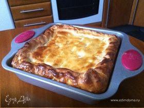 Щавелевый пирог с творожным сыром
