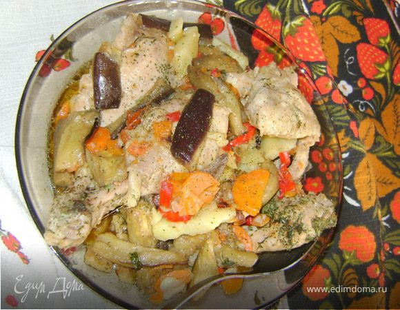 Курочка с овощами