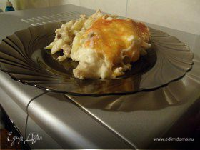 """Запеченный картофель в соусе """"Бешамель"""""""
