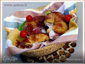 Бутербродные круассаны с расстойкой в холодильнике
