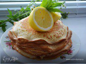 Дрожжевые, лимонно-манные блины