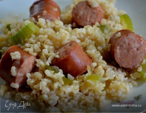 Рис колбасками