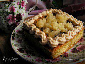 Пирожные с финиками, ананасом и творожным кремом
