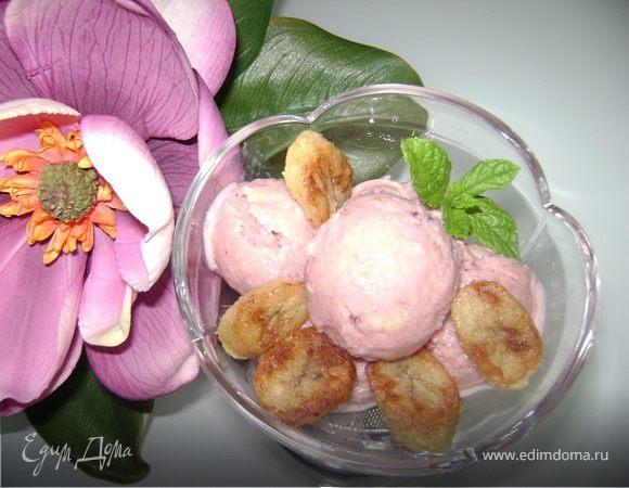 Кефирно-банановое мороженое