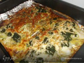 Рыба, запеченная со шпинатом и сыром