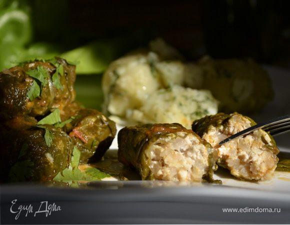 Зеленые голубцы с листьями мангольда, шпината и вкусом лета